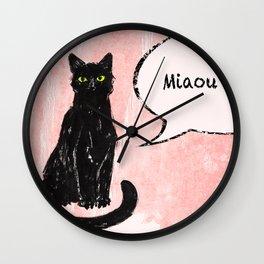 Kitty I Wall Clock