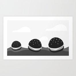 Burgas in the Ocean Art Print