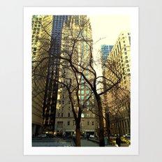 Tree versus Scraper #3 Art Print