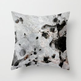 Stone is a hole Throw Pillow