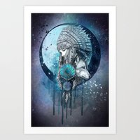 dreamcatcher Art Prints featuring Dreamcatcher by Marine Loup