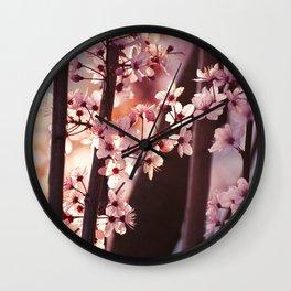 Pink Wind Wall Clock
