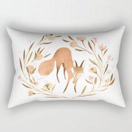 Orange Blossom Fox Rectangular Pillow