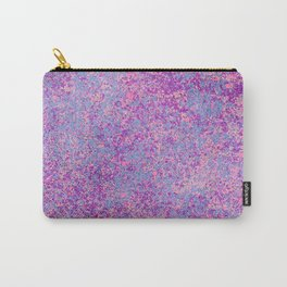 Modern abstract pink purple teal watercolor splatters Carry-All Pouch