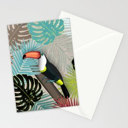Tropical Birds (Color 2 - Bold) Stationery Cards