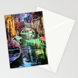 Venice Italy Canal Stationery Cards
