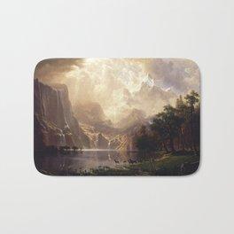 Among the Sierra Nevada, California by Albert Bierstadt Bath Mat