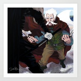 Thom vs the Fade (For Owyn) Art Print