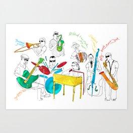 NOLA Jazz Fest 2011 Art Print