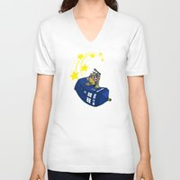 kirby V-neck T-shirts featuring Dr. Kirby by Macaluso