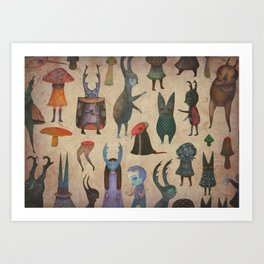 The Cursed Forest characters Art Print