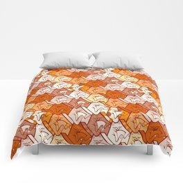 Sleepy kitten pattern Comforters
