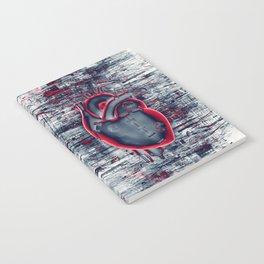 Gamer Heart BLUE CRIMSON / 3D render of mechanical heart Notebook