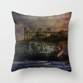 Storm Front On The Seafront Throw Pillow