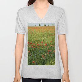Field of Poppies Unisex V-Neck