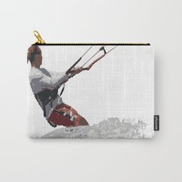 Kiteboarding Lets Go Fly A Kite Vector Carry-All Pouch