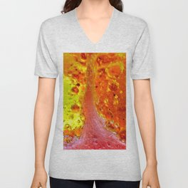 Alien Landscape - Watermelon Tree Unisex V-Neck