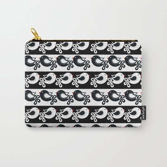black and white birds Carry-All Pouch