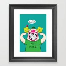 Just Smile Framed Art Print