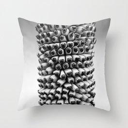 Bananas black and white Throw Pillow