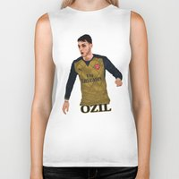 arsenal Biker Tanks featuring Mesut Özil by siddick49