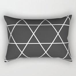 Too Big Triangles Rectangular Pillow