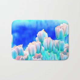 Tulips in Spring Abstract Bath Mat