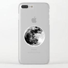 Moon Illuminated Clear iPhone Case