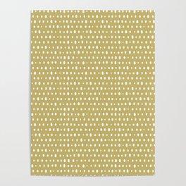Trombone, brush strokes, minimal, unformed dots, spots, mid century, abstract, pattern Poster
