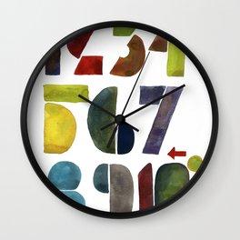 1 2 3 4 5 6 7 8 9 10 decimal numbers - by Genu WORDISIAC™ TYPOGY™ Wall Clock