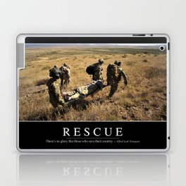 Rescue: Inspirational Quote and Motivational Poster Laptop & iPad Skin