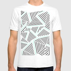 Ab Linear Zoom With Mint Mens Fitted Tee SMALL White