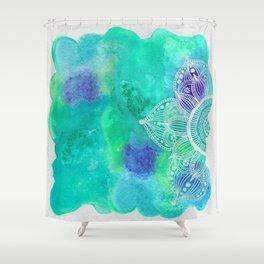 Ice Mandala Shower Curtain