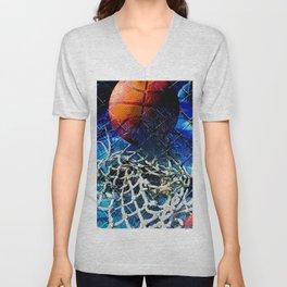 Basketball art swoosh 59 Unisex V-Neck