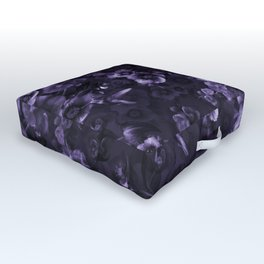 Moody florals purple by Odette Lager Outdoor Floor Cushion