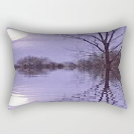 "Moonrise Reflection"" Rectangular Pillow"