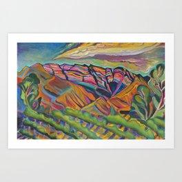 Topa Mountain Winery Art Print