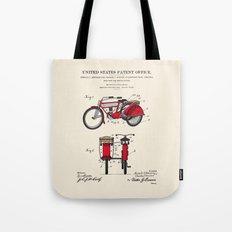 Motorcycle Sidecar Patent 1912 Tote Bag