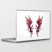 diablo Laptop & iPad Skins featuring Double Diablo by Little Bunny Sunshine