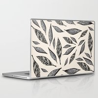 boho Laptop & iPad Skins featuring BOHO FEATHERS  by Vasare Nar
