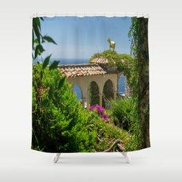 The Golden Goat of Eze Village Shower Curtain