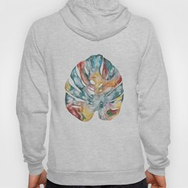 Colourful nature print - Cheese Leaf acrylic painting Hoody