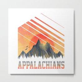 Appalachians  TShirt Mountains Shirt Mountain Range Gift Idea  Metal Print