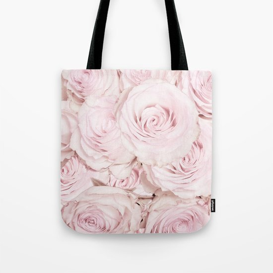 Roses have thorns- Floral Flower Pink Rose Flowers on #Society6 Tote Bag