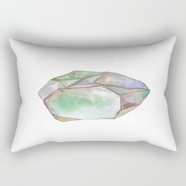 Pointy Crystal Abstraction Rainbow Fluorite Rectangular Pillow