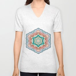Colorful mandala Unisex V-Neck