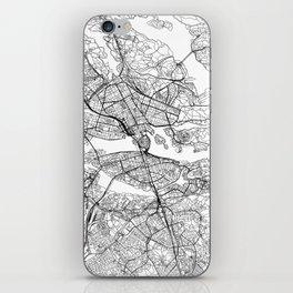 Stockholm White Map iPhone Skin
