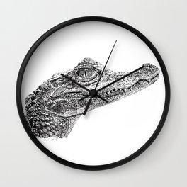 Baby Crocodile Wall Clock