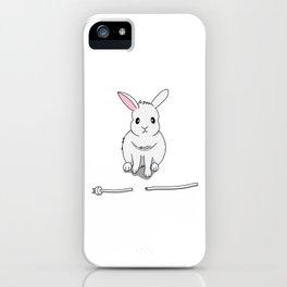 A grumpy bunny iPhone Case