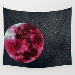 blood moon and star dust Wall Tapestry